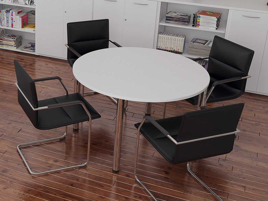 Tcs Round Meeting Table On Chrome Legs Rapid Office