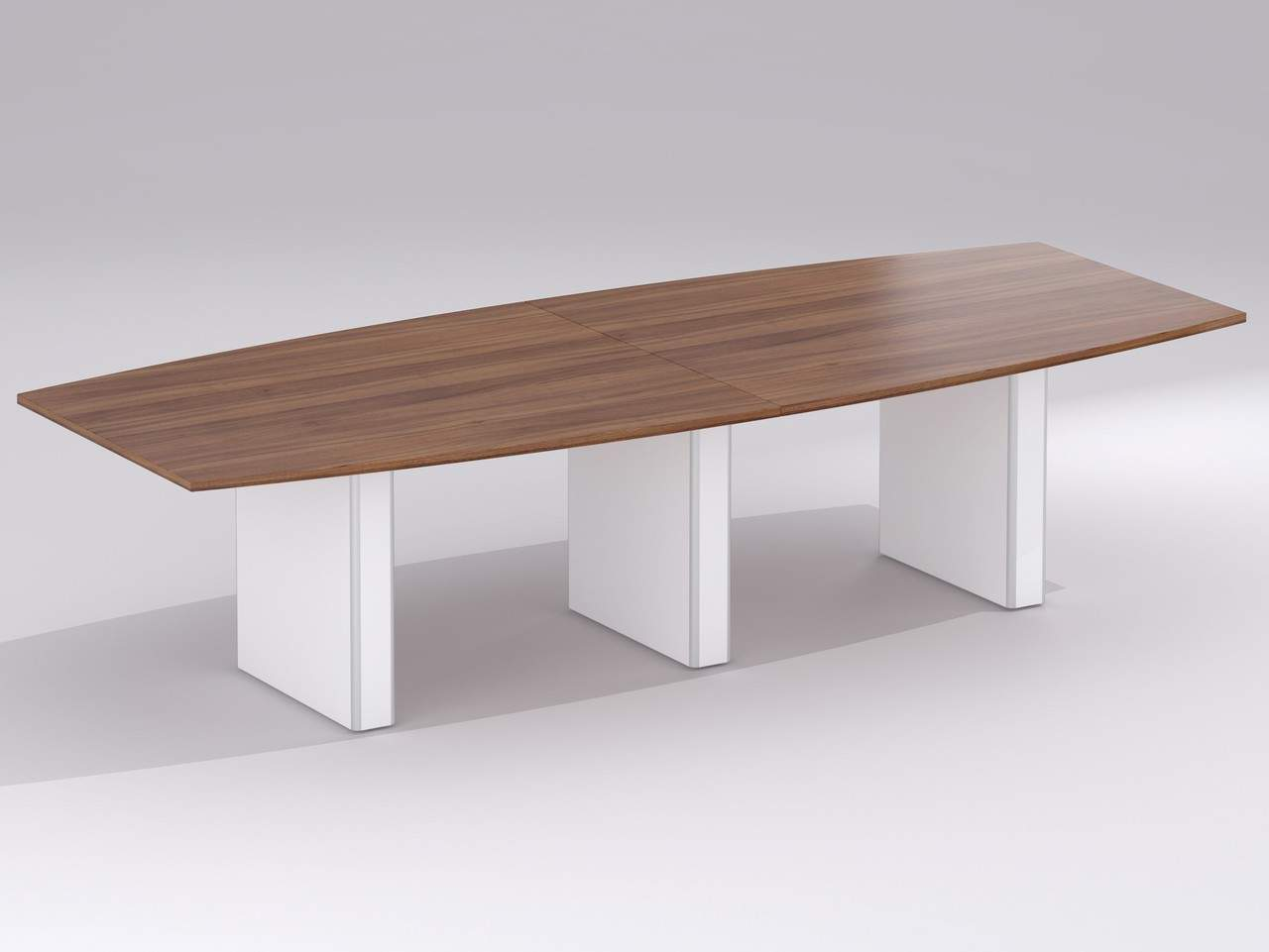 TCS Wood Veneer Boardroom Table on Box Bases Choice of Shape & Finish
