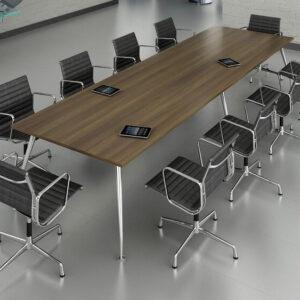 TCS Wood Veneer Boardroom Table on Capri Base Choice of Shape & Finish