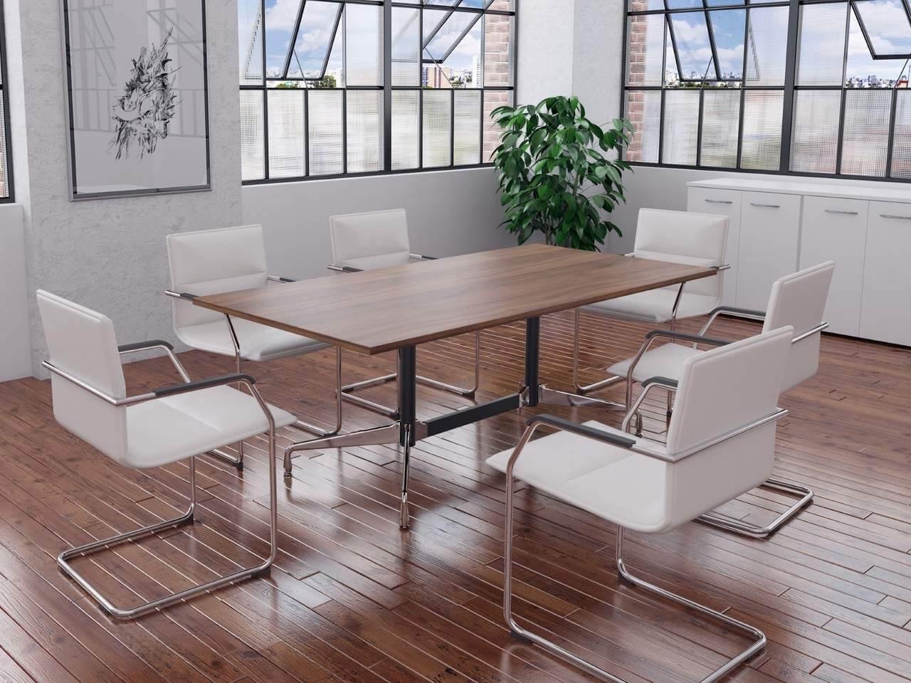 TCS Wood Veneer Boardroom Table on Eames Base Choice of Shape & Finish
