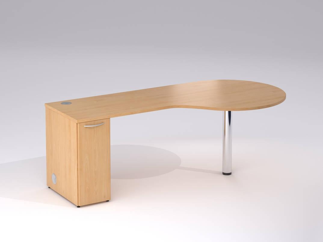 chrome office desk. TCS Golf Club Sales Office Desk On Chrome Round Leg With Storage