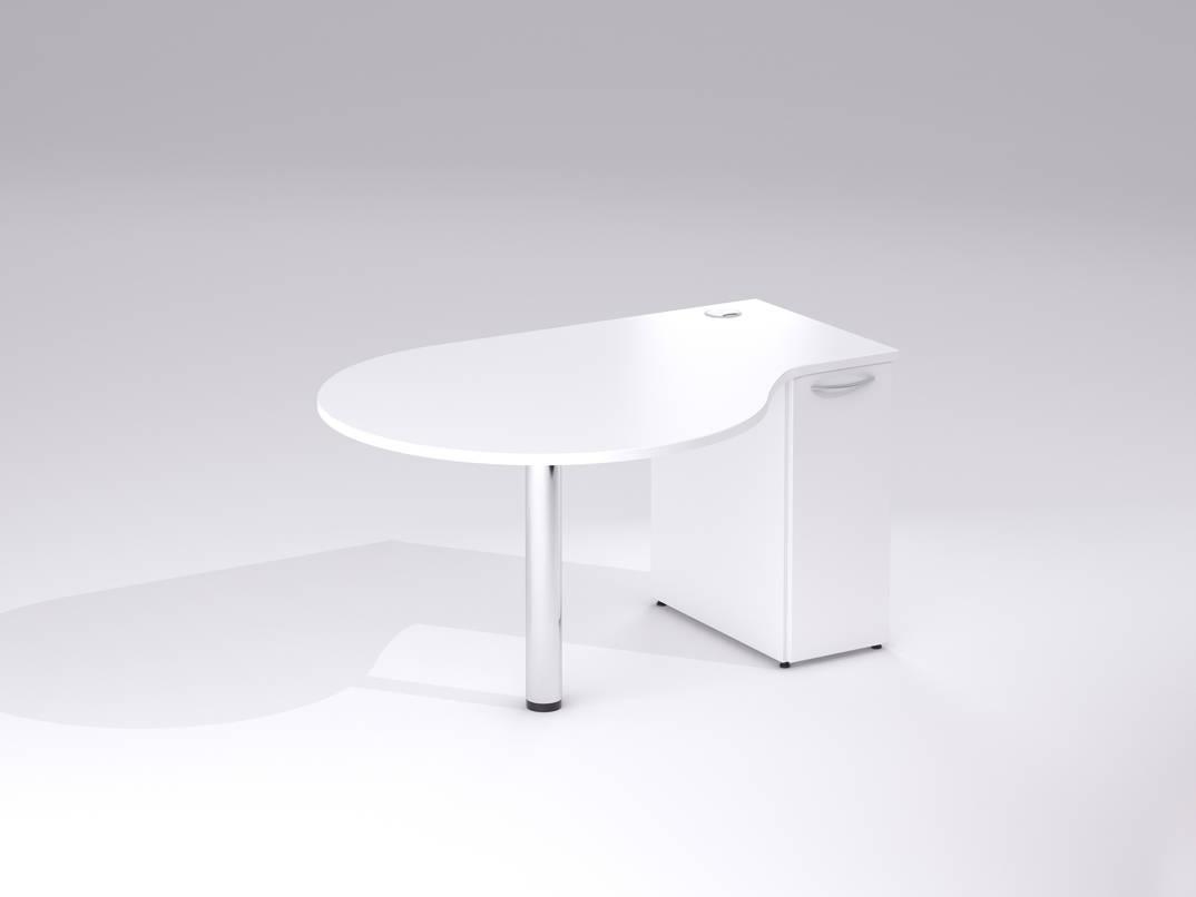 TCS Golf Club Sales Office Desk on Chrome Round Leg with Storage