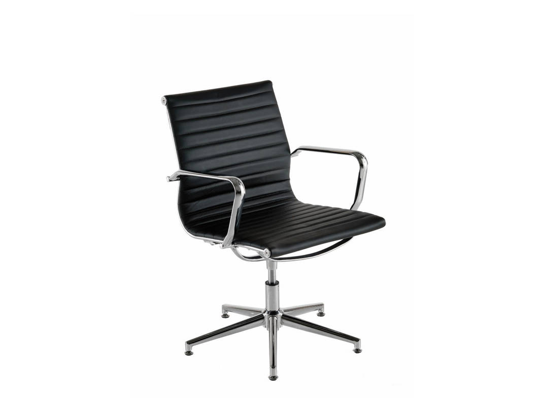 Aria A Leather Executive Office Meeting Chair on Cantilever or 5 Star Spider Base