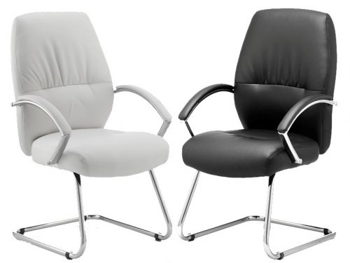Dune Cantilever Lever Executive Meeting Chair in Black or White