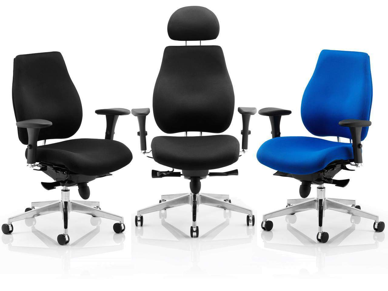 Chiro Plus 24 Hour Ergonomic Posture Office Chair in Blue or Black