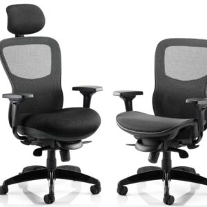 Stealth 24 Hour Ergonomic Posture Mesh Office Chair in Black