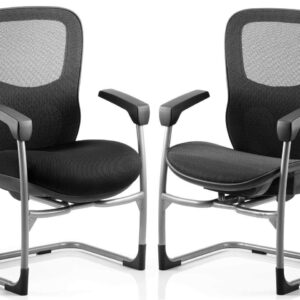 Stealth 24 Hour Ergonomic Posture Mesh Cantilever Chair in Black