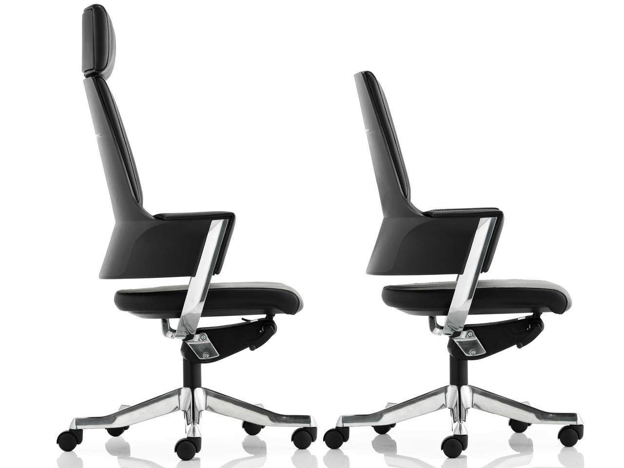 Enterprise Executive Office Chair in Tan or Black Fabric or Leather
