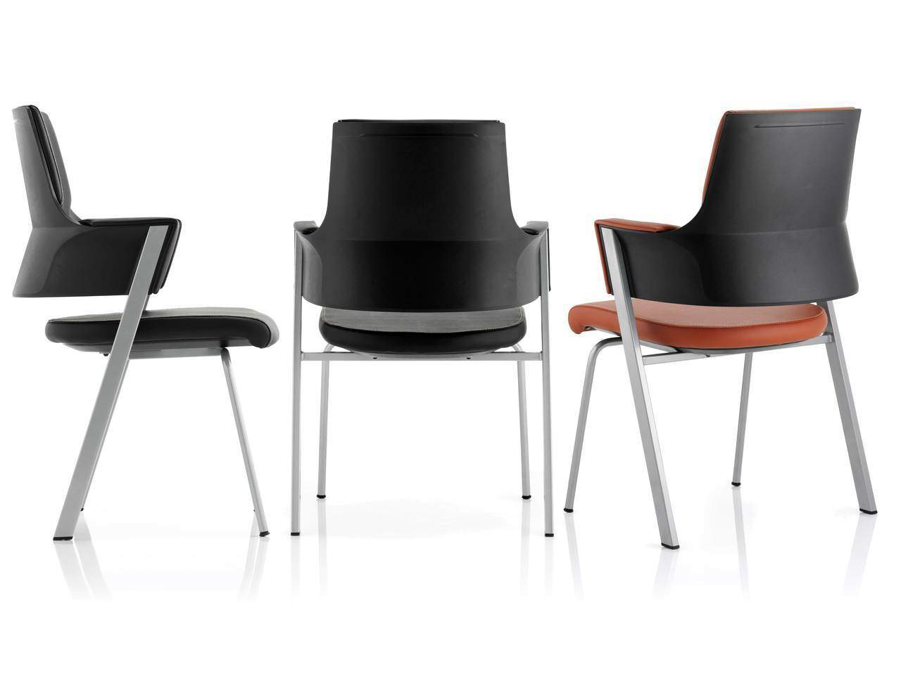 Enterprise Executive Cantilever Chair in Tan or Black Fabric or Leather