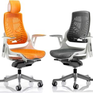 Zephyr Elastomer Executive Office Chair in Grey or Orange