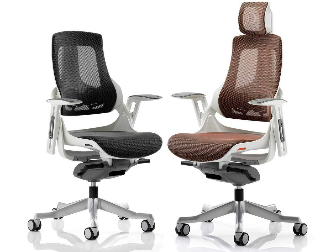 Zephyr Mesh Executive Office Chair in Mandarin or Black