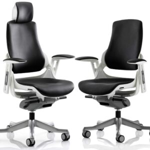 Zephyr Fabric or Leather Executive Office Chair in Black