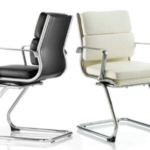 Savoy Medium Back Leather Executive Cantilever Chair