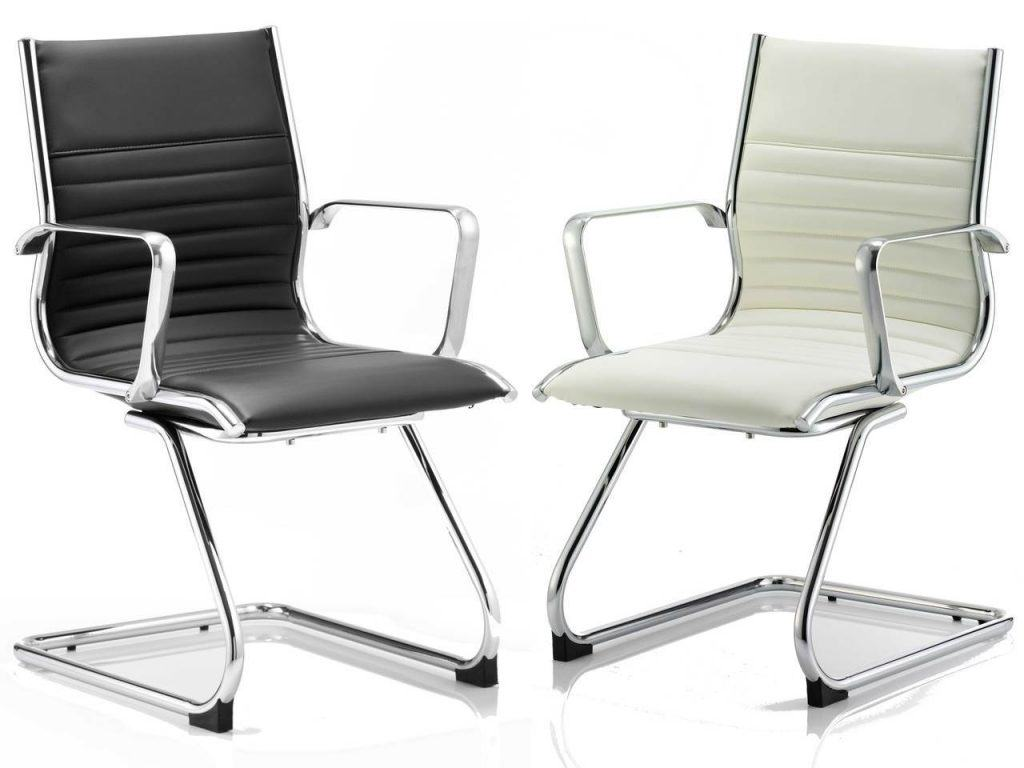 ritz leather executive office cantilever meeting chair furniture - click to enlargeclick to enlarge