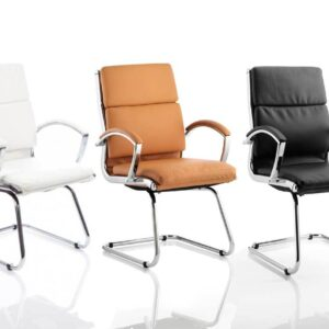 Classic Medium Back Leather Executive Cantilever Chair