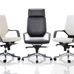 Xenon Leather Executive Office Chair in Black or White