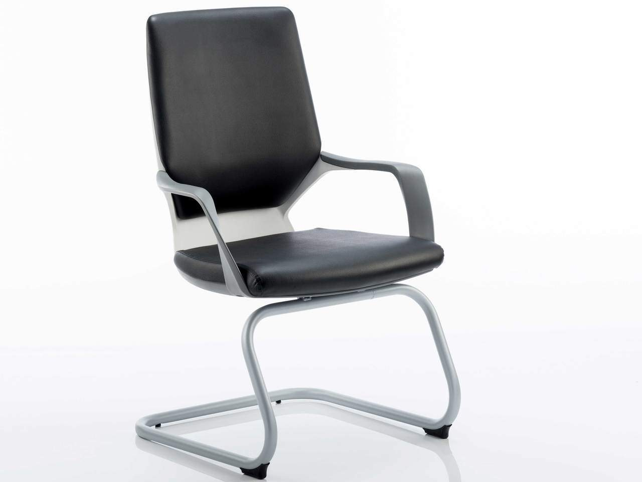 Xenon Leather Executive Cantilever Office Chair in Black or White