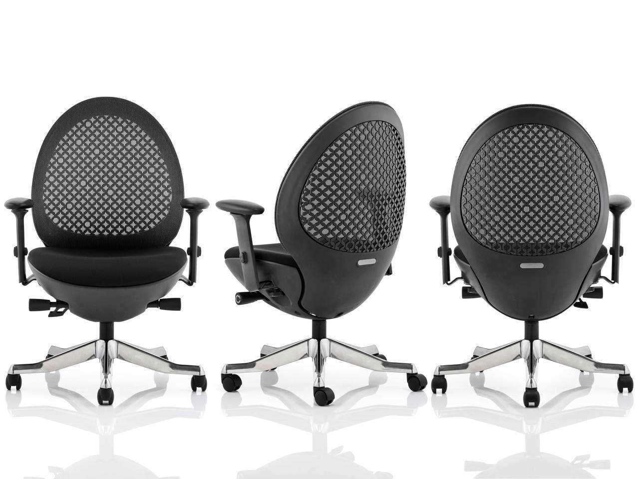 Revo Modern Deep Cushioned Mesh Back Task Operator Chair in Black or Mandarin