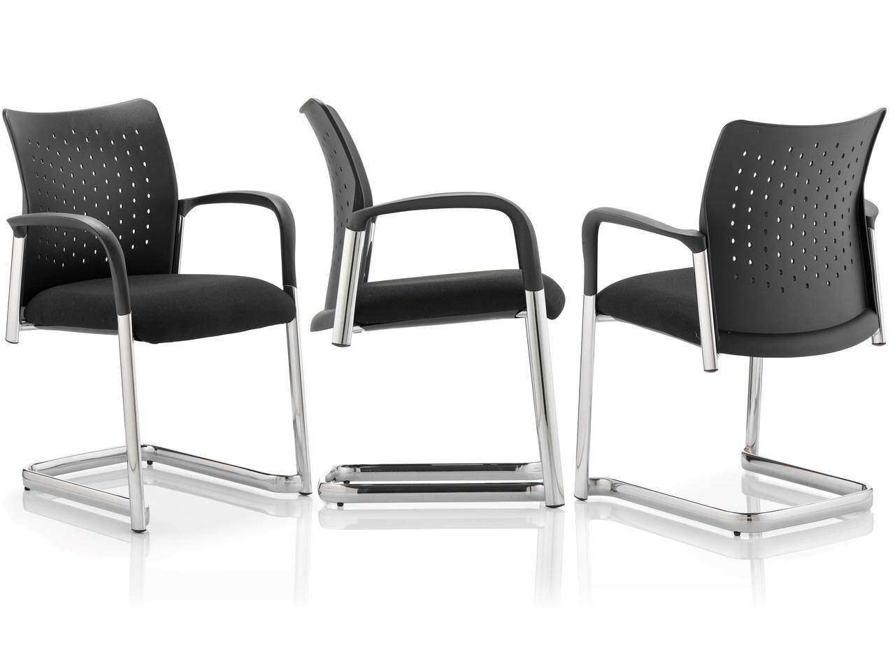 Academy Cantilever Visitor Meeting Chair In Black