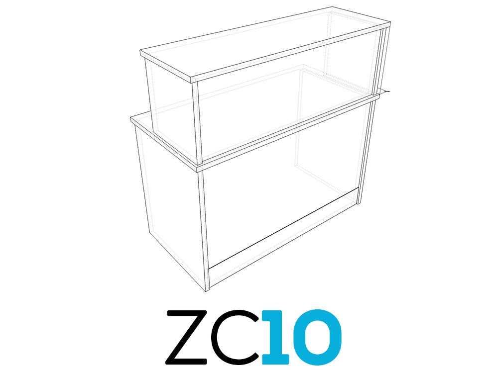 TCS Z-Range Modular Rectangular Reception Counter ZC10