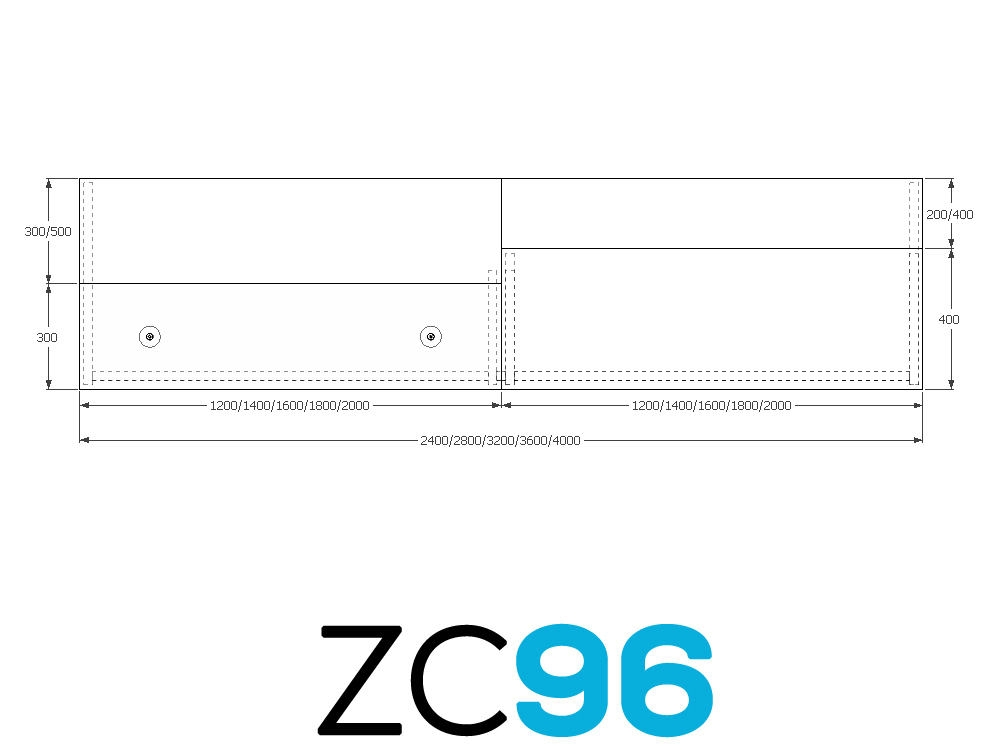 TCS Z-Range Modular Rectangular Reception Desk ZC96