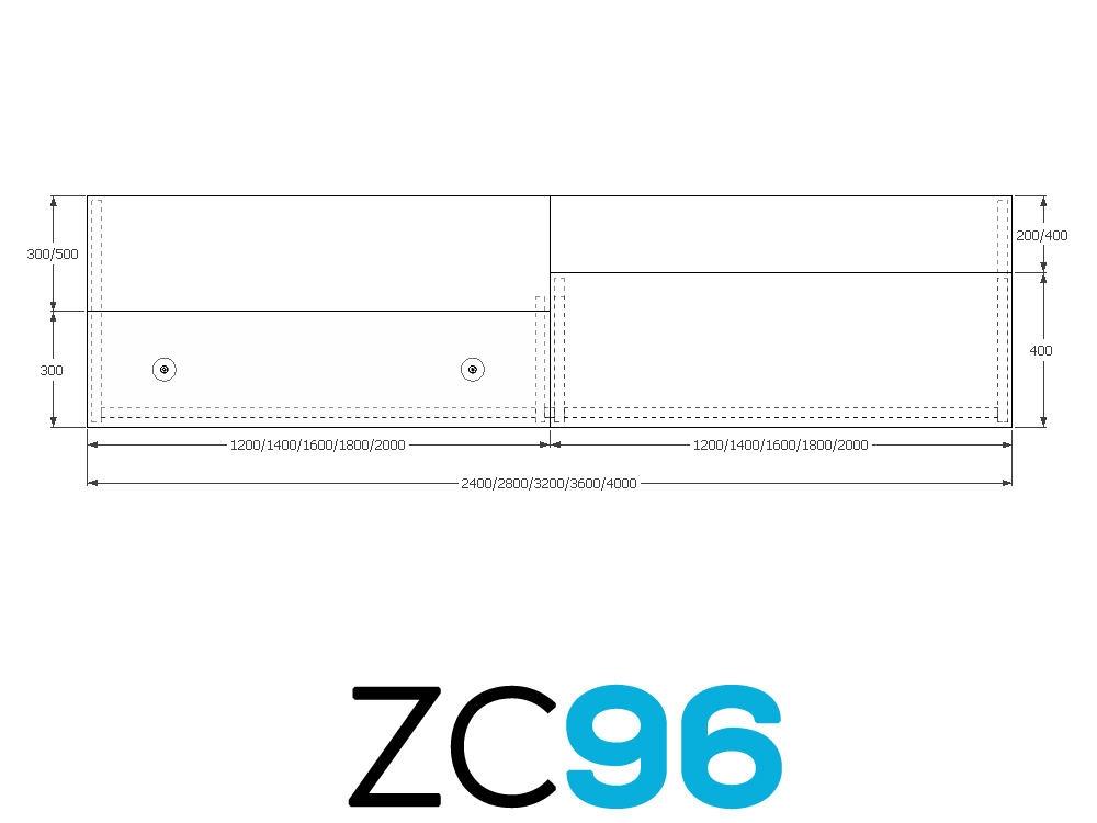 TCS Z-Range Modular Rectangular Reception Desk ZC96