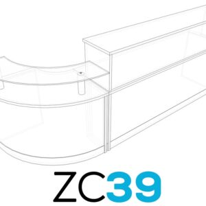 TCS Z-Range Modular Reception Desk ZC39