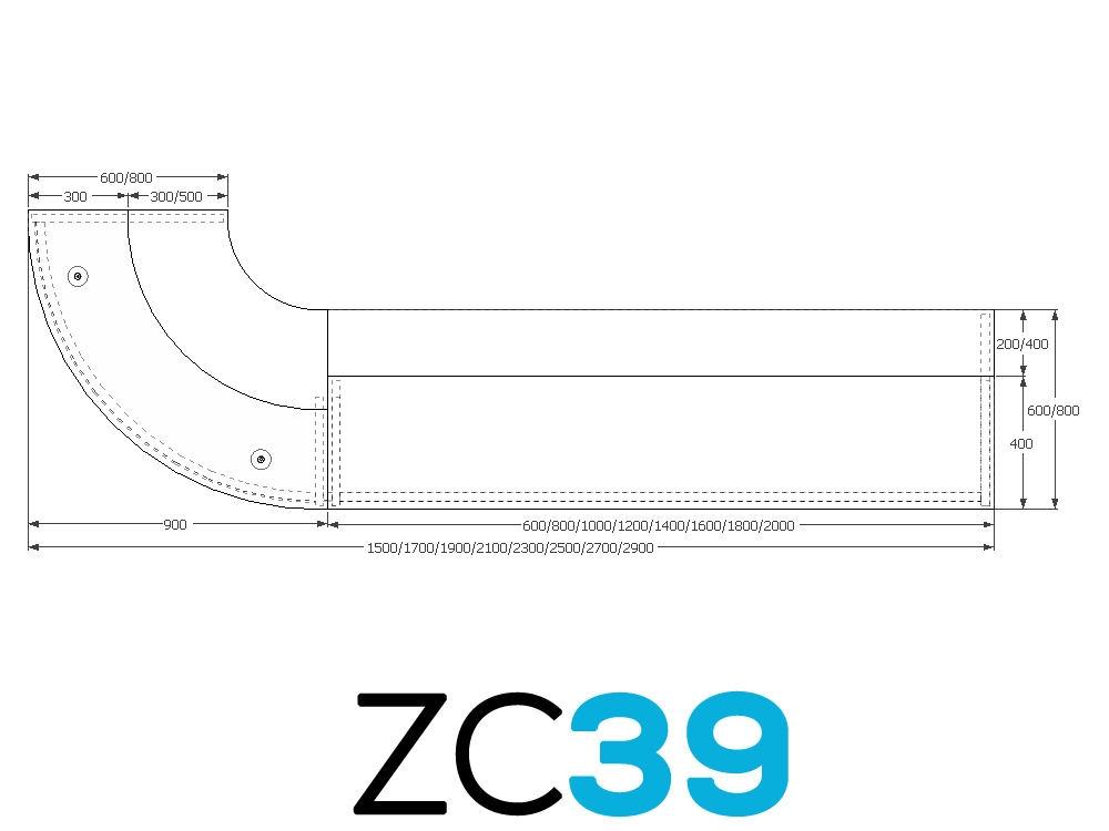 TCS Z-Range Modular Reception Desk ZC39