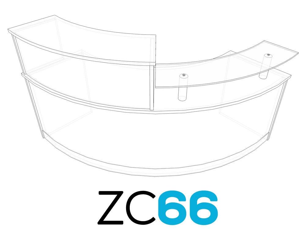 TCS Z-Range Modular Curved Reception Desk ZC66