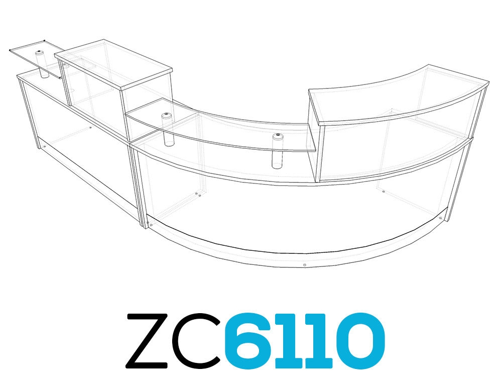 TCS Z-Range Modular Reception Desk ZC61100