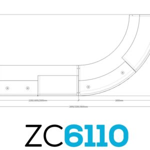 TCS Z-Range Modular Reception Desk ZC61100