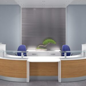 TCS Z-Range Modular DDA Reception Desk ZC6164