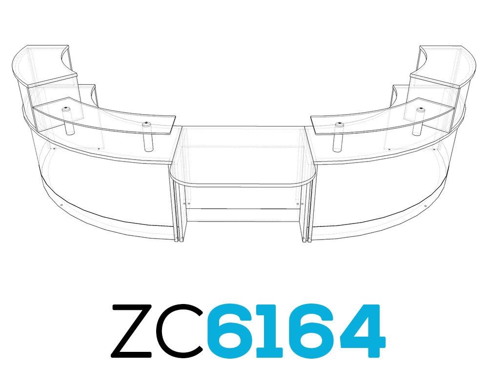 TCS Z-Range Modular DDA Reception Desk ZC6164
