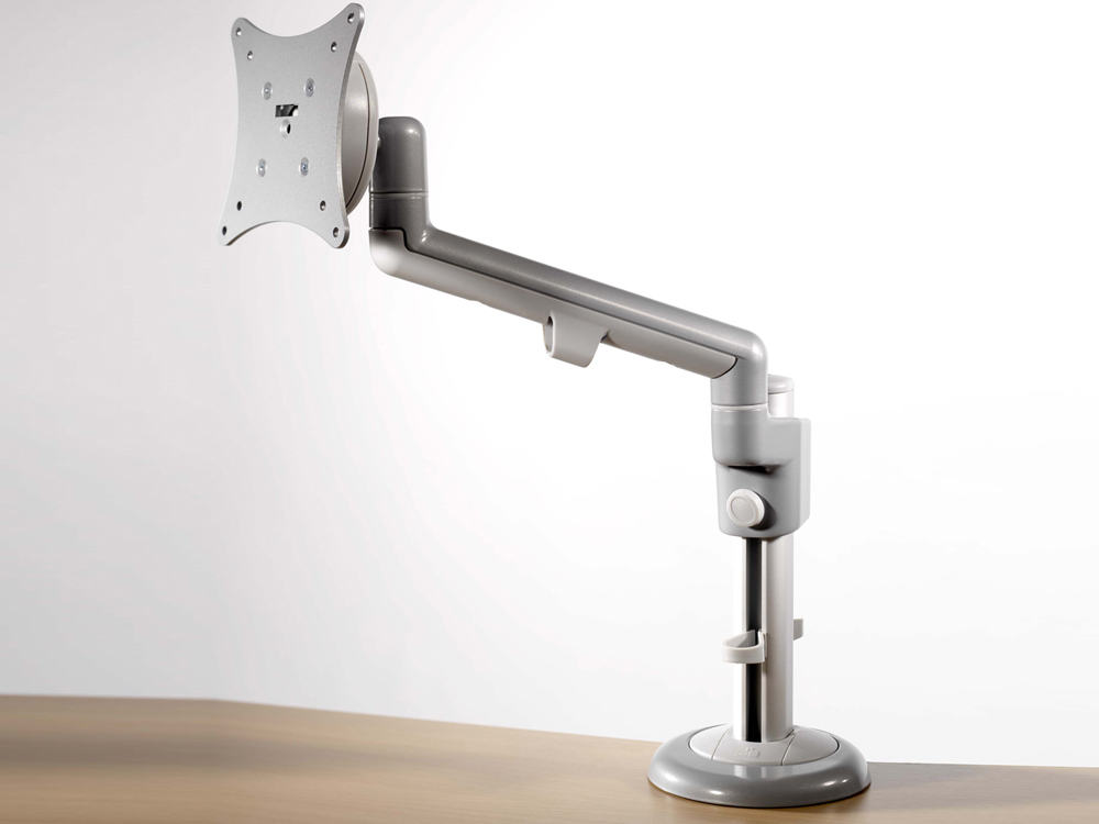 Motion Office Desk Single Monitor Arm From Rapid Office