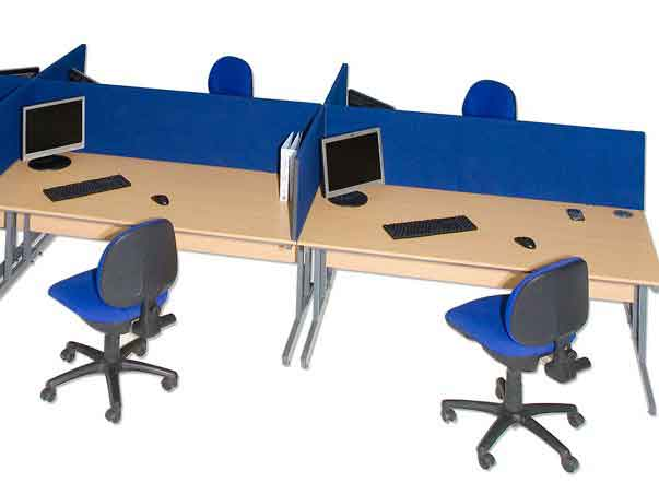 Galaxy Desktop Office Desk Divider Screens From Rapid