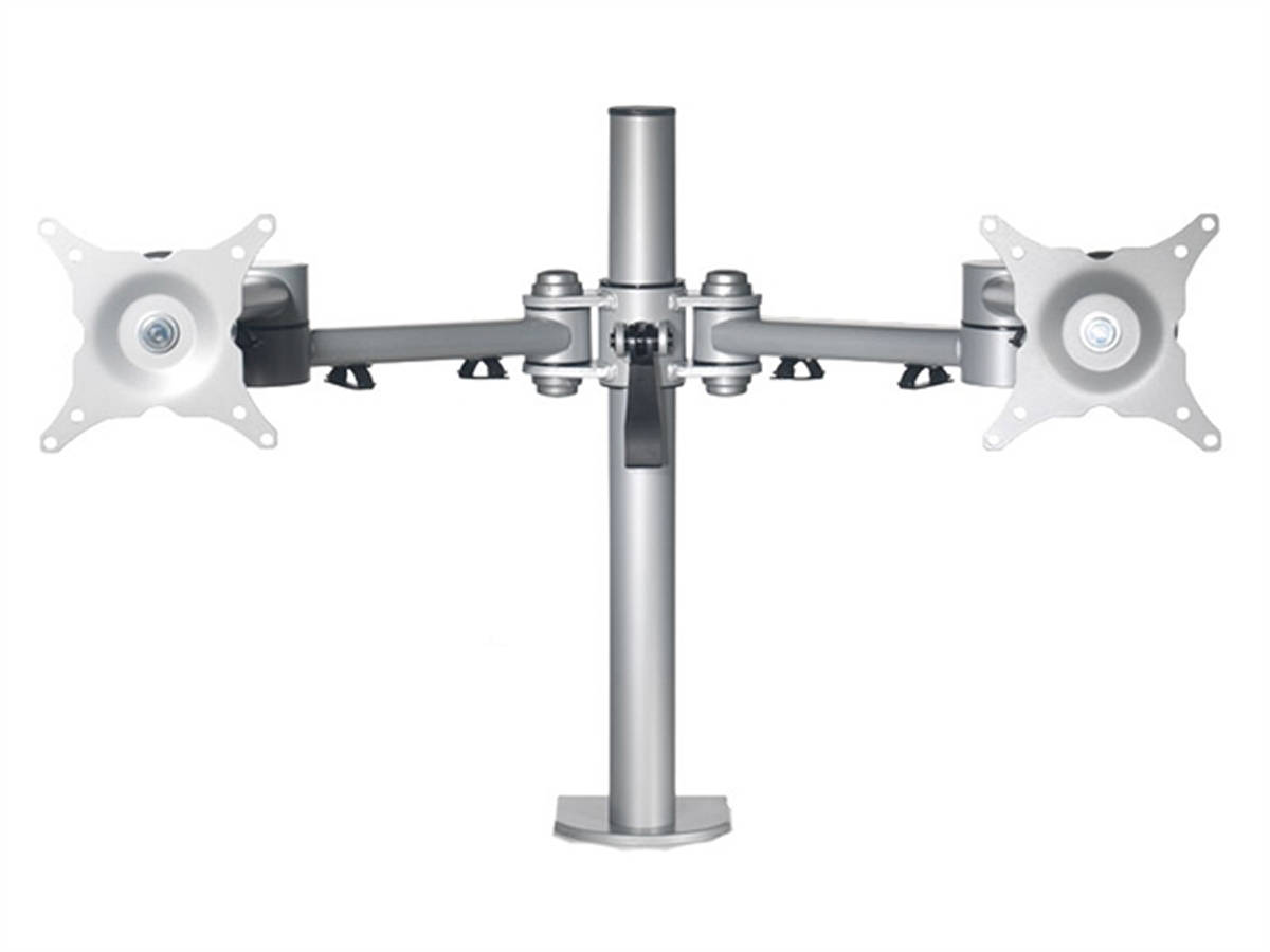 Vision Double Monitor Arm in Silver, Black or White