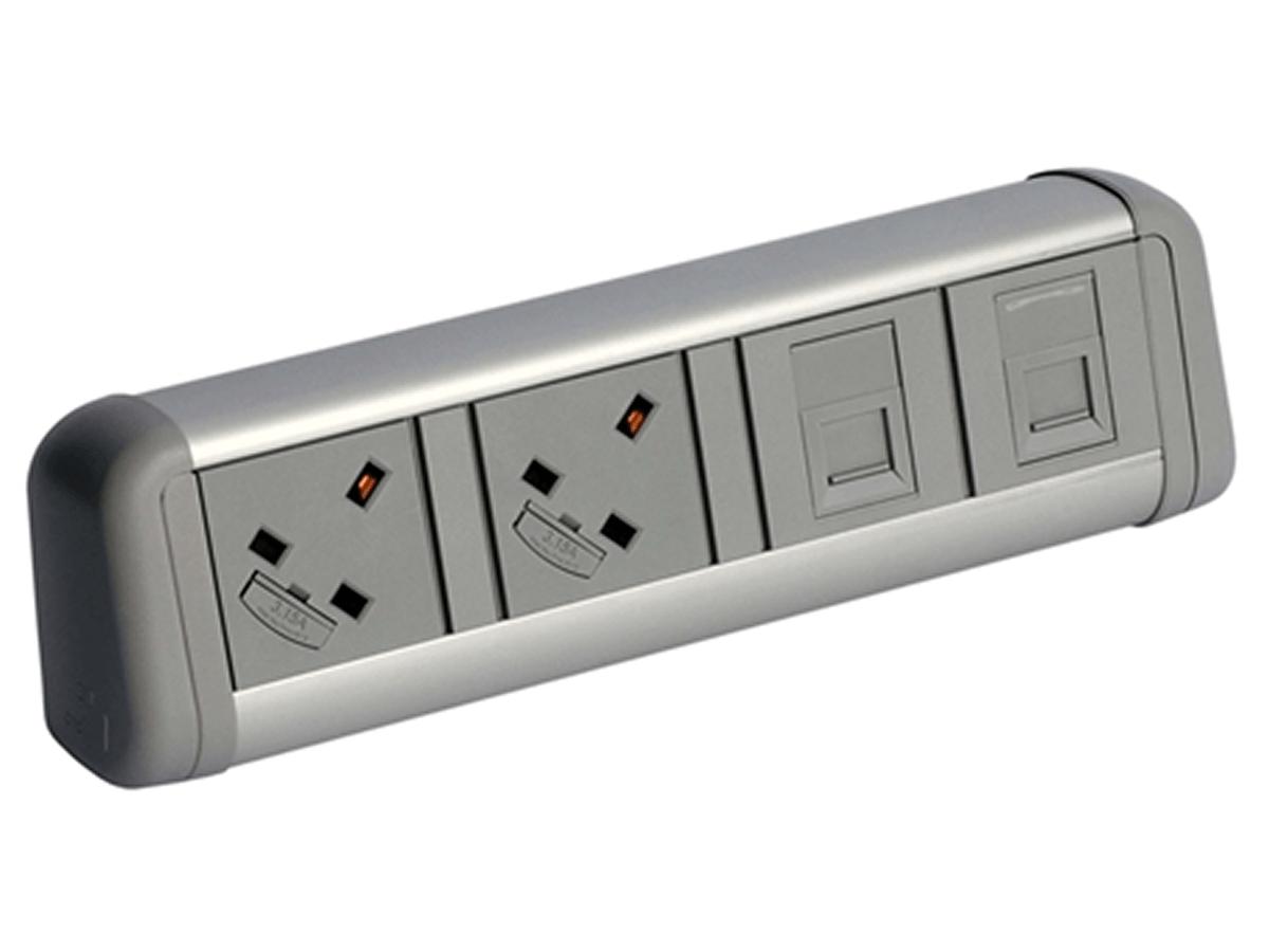 Contour Desktop Power Data Module in Black, Grey or White