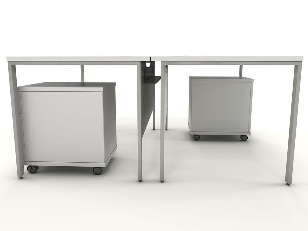 Icarus White Single Bench Desk