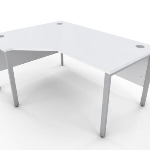 Icarus White Single Corner Office Desk