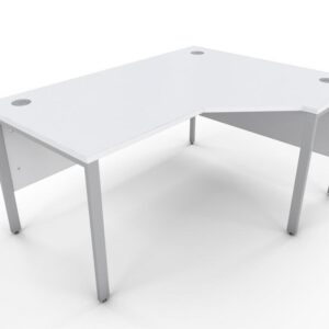 Icarus White Single Corner Office Desk