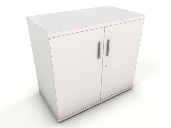 Icarus White Office Storage Cupboards