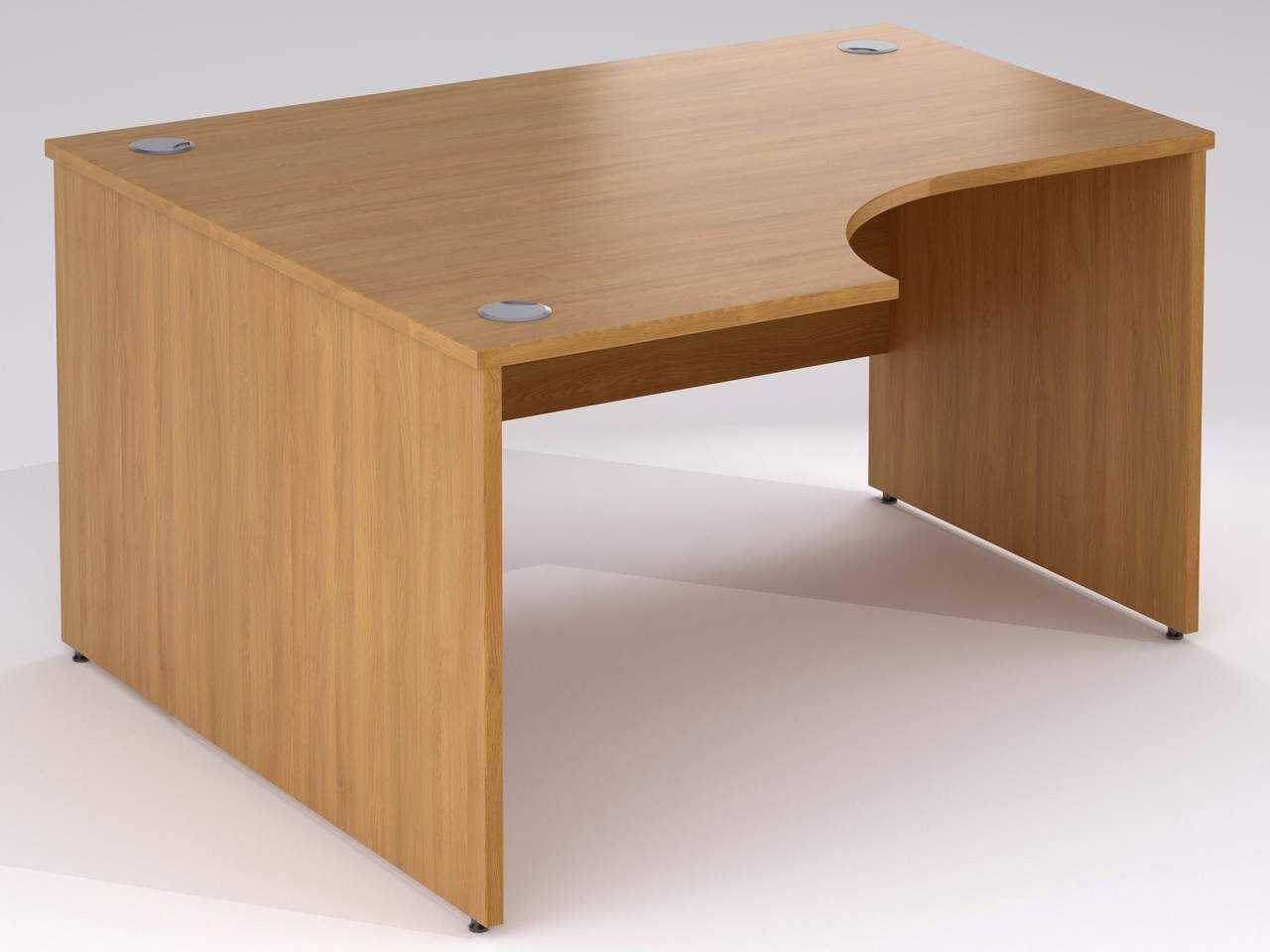 TCS nTree Panel End Simple Corner Office Desk