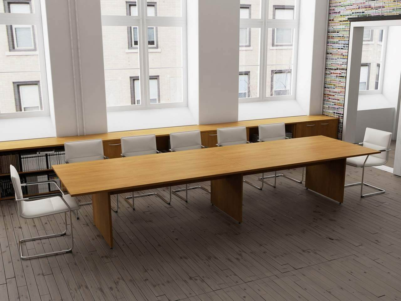 TCS Meeting Table on Panel Base Choice of Shape & Finish