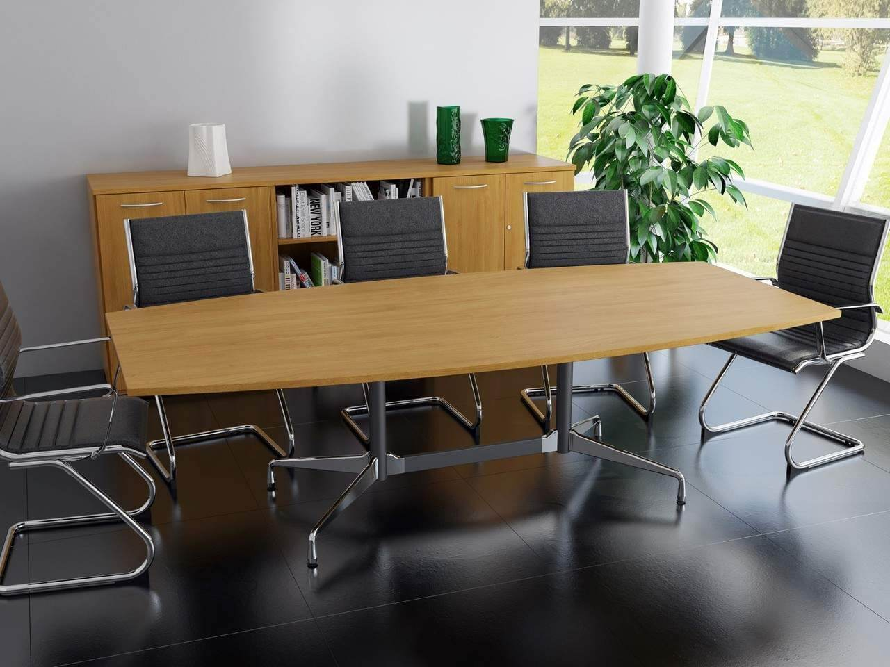 TCS Meeting Table on Eames Base Choice of Shape & Finish