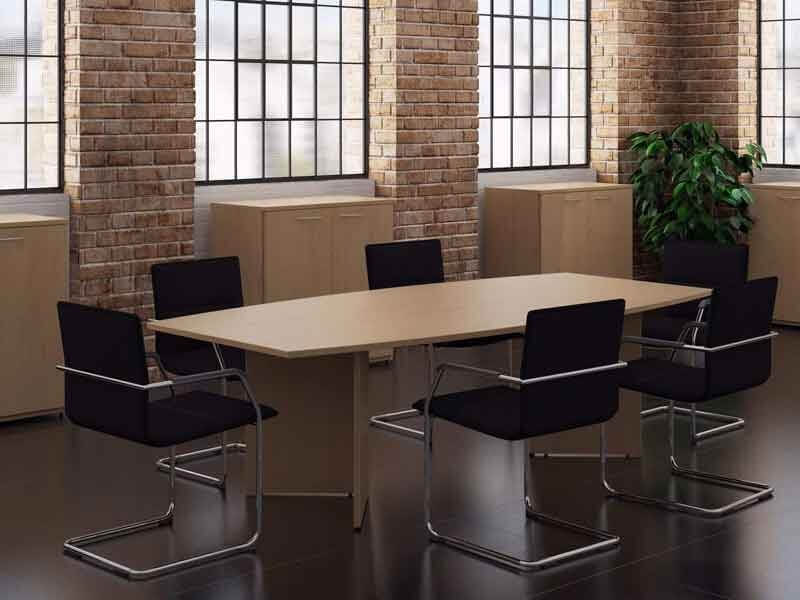 TCS Meeting Table on Arrowhead Base Choice of Shape & Finish
