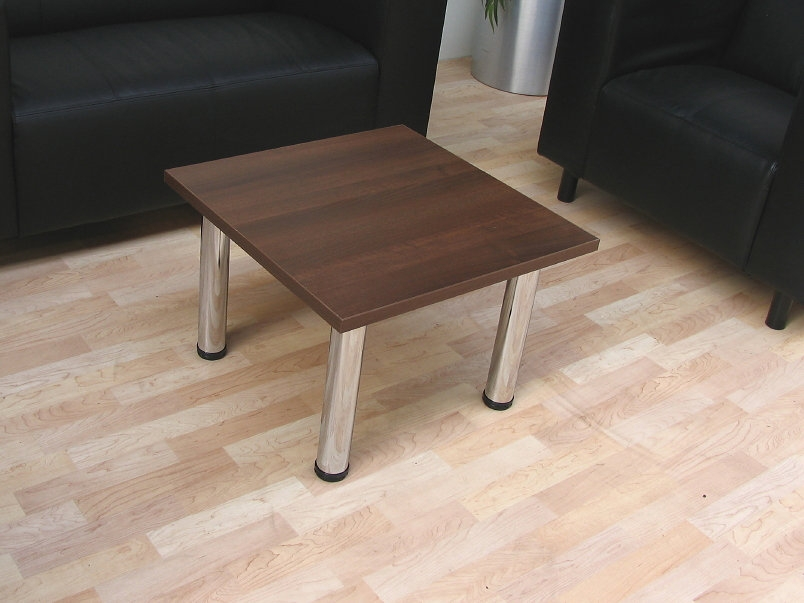 Tcs Z Range Reception Coffee Table On Chrome Round Legs