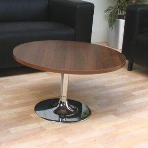 TCS Z-Range Reception Coffee Table on Chrome Trumpet Base