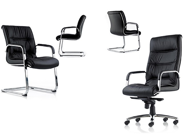 Cloud CC1 High Back Black Leather Executive Office Chair