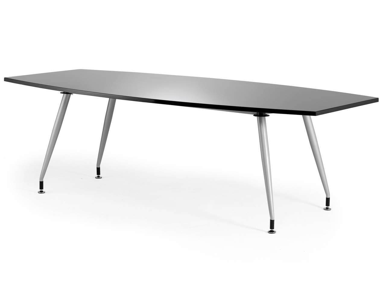 High Gloss Office Meeting Table Black Or White Rapid