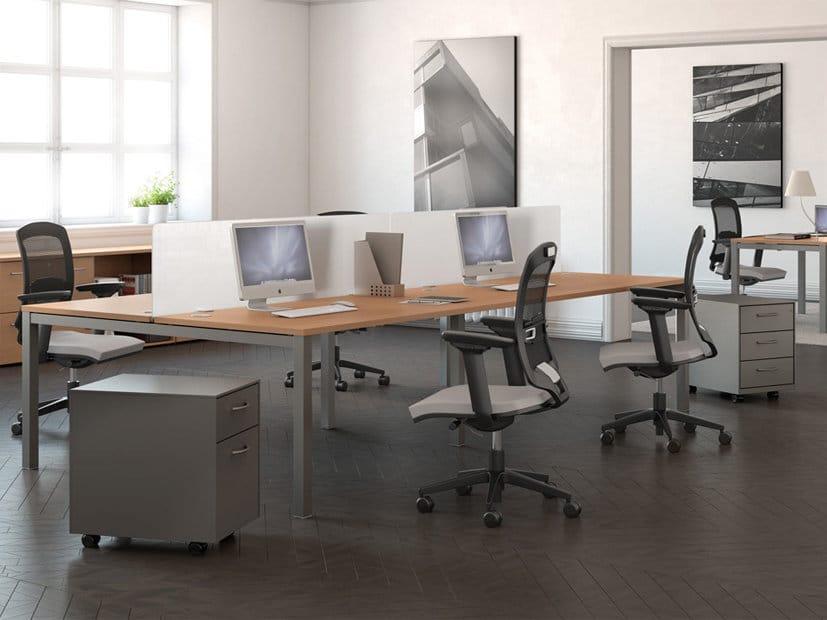 Buronomic Astrolite 4 Person Call Centre Bench Office Desk